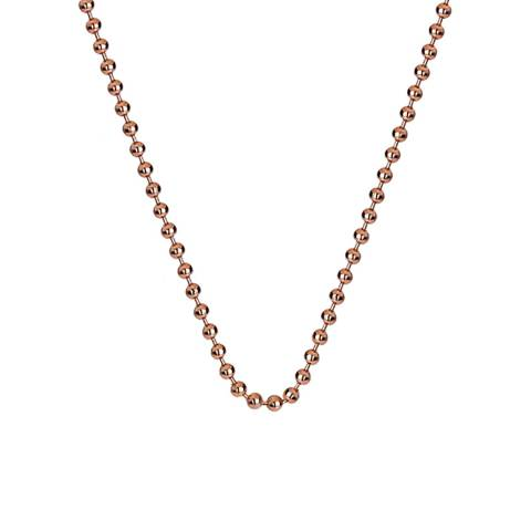 Emozioni Rose Gold Plated Sterling Silver Bead Chain 18 inch