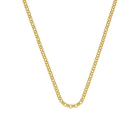 Emozioni 18 inch Yellow Gold Plated Sterling Silver Belcher Chain