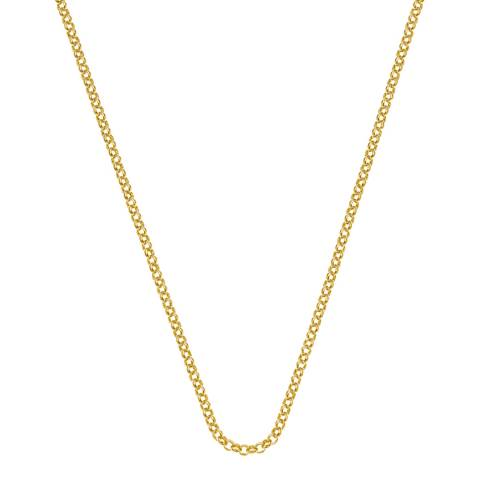 Emozioni 30 inch Yellow Gold Plated Sterling Silver Belcher Chain