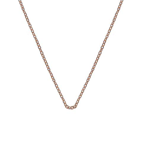 Emozioni 16-18 inch Rose Gold Plated Sterling Silver Trace Chain