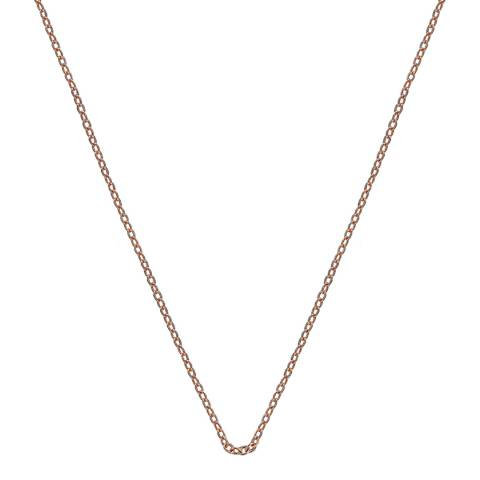 Emozioni 30 inch Rose Gold Plated Sterling Silver Trace Chain