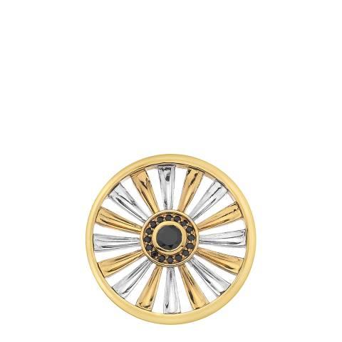 Emozioni Art Deco Sunrise Silver &  Yellow Gold Plate Coin - 33 mm