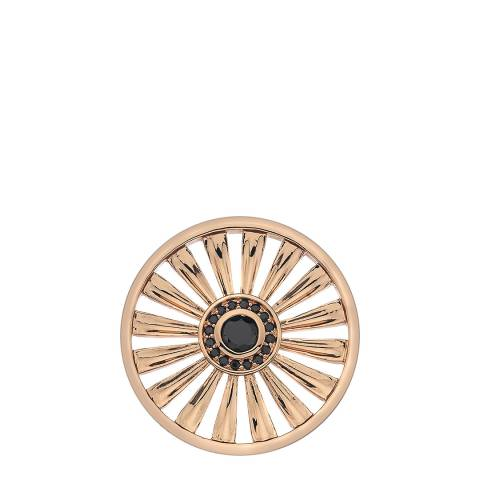 Emozioni Art Deco Sunrise Rose Gold Plate Coin - 33 mm