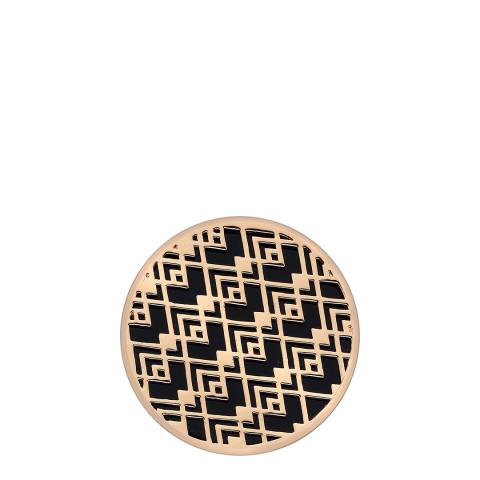 Emozioni Art Deco Wave Rose Gold Plate Coin - 33mm