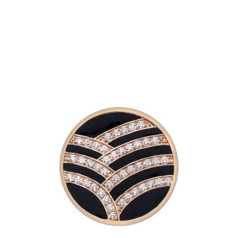 Emozioni Art Deco Curve Rose Gold Plate Coin - 33mm