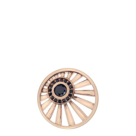 Emozioni Art Deco Dawn Rose Gold Plate Coin - 25 mm