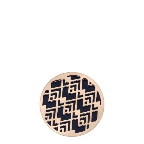 Emozioni Art Deco Wave Rose Gold Plate Coin - 25mm