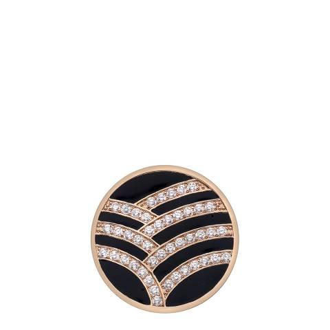 Emozioni Art Deco Curve Rose Gold Plate Coin - 25mm