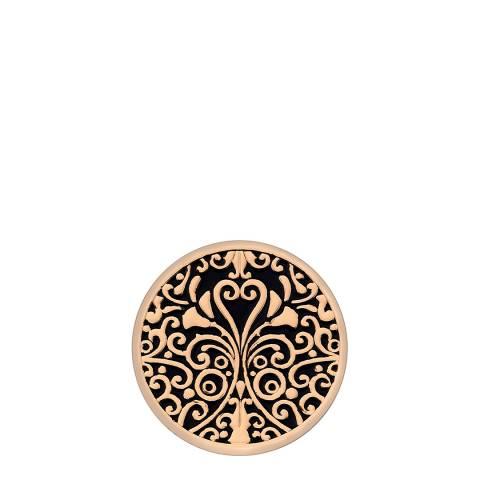 Emozioni Victorian Ornate Rose Gold Plate Coin - 25mm