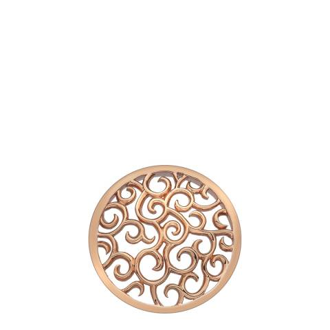 Emozioni Winding Paths Rose Gold Coin - 25mm