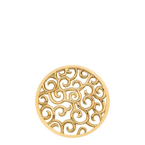 Emozioni Winding Paths Yellow Gold Coin - 33mm