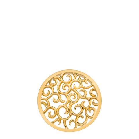 Emozioni Winding Paths Yellow Gold Coin - 25mm