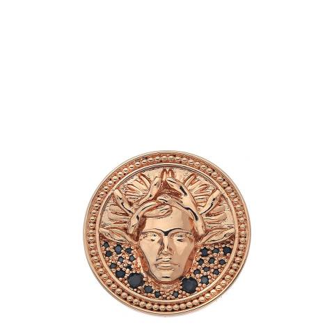 Emozioni Medusa Nera Rose Gold Plated - 33mm