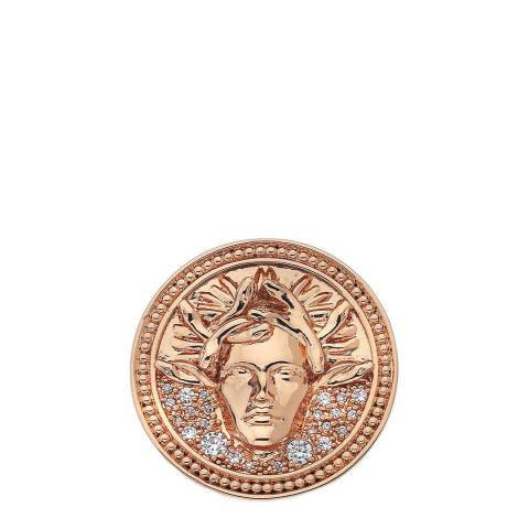 Emozioni Medusa Bianca Rose Gold Plated - 33mm