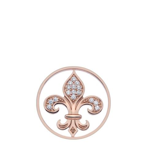 Emozioni Fleur De Lis Rose Gold Plated Coin 33mm