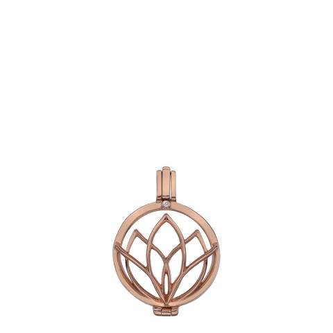 Emozioni Rinascita Rose Gold Plate Sterling Silver Coin Keeper - 25mm