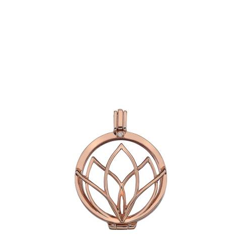 Emozioni Rinascita Rose Gold Plate Sterling Silver Coin Keeper - 33mm