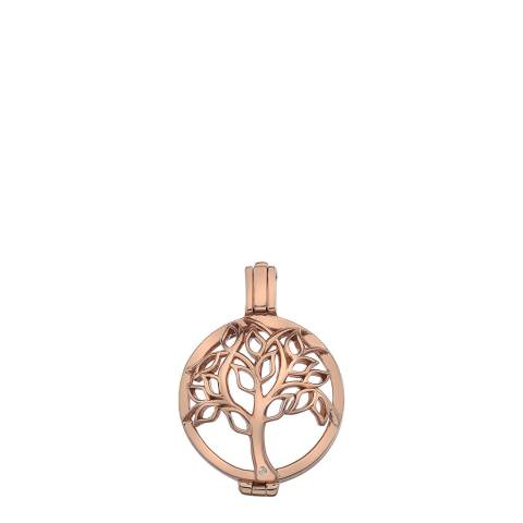 Emozioni Vita Rose Gold Plated Sterling Silver Coin Keeper - 25mm