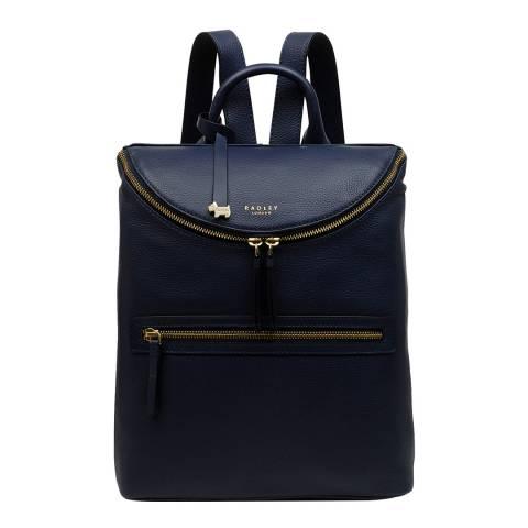 Radley Navy Crown Hill Medium Backpack