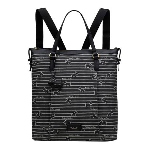 Radley Black Stripe Medium Backpack