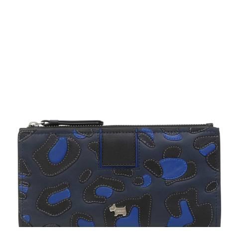 Radley Dark Blue Leopard Bath Court Matinee Purse