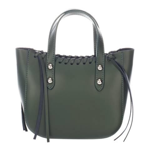 Giorgio Costa Green Leather Top Handle Bag