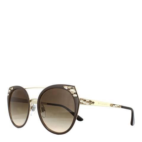 Bvlgari Women's Brown Bvlgari Sunglasses 53mm