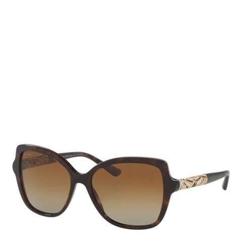 Bvlgari Women's Brown Bvlgari Sunglasses 56mm