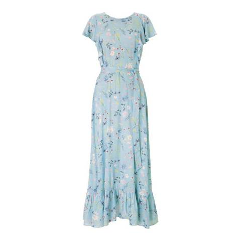 Baukjen Light Blue Kaia Ruffle Dress