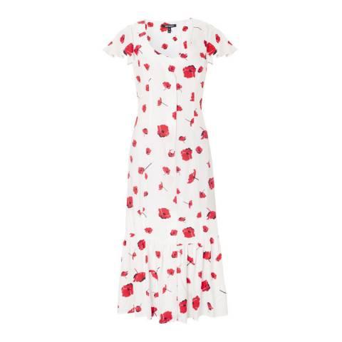 Baukjen White Poppy  Reign Button Dress