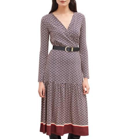 Baukjen Navy Chain Print Chamille Dress