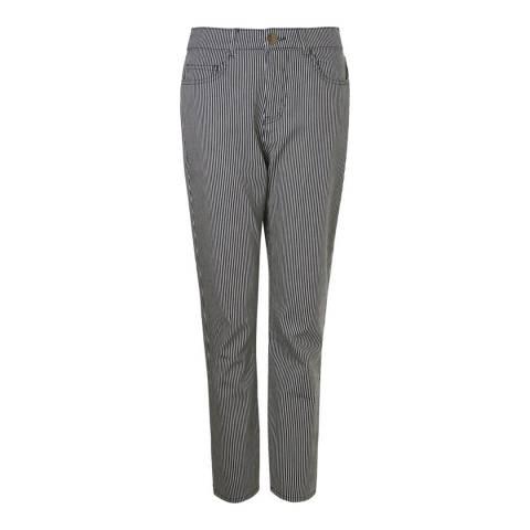 Baukjen Navy/White Hanbury Crop Jean