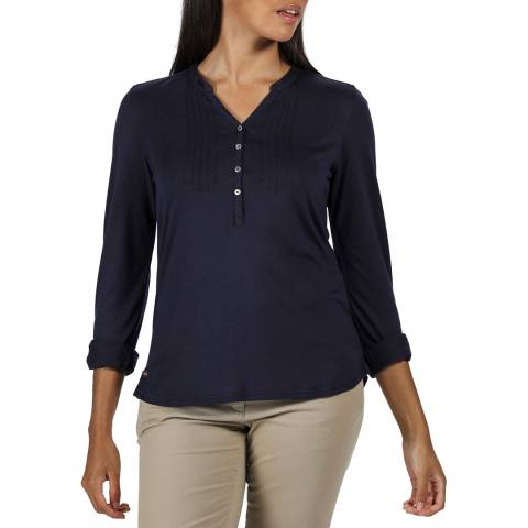 Regatta Navy Button Up Shirt