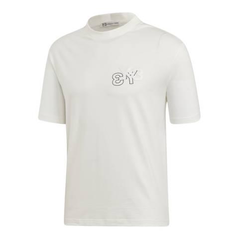 adidas Y-3 White Logo Tee