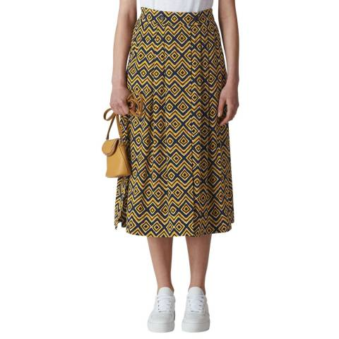 WHISTLES Yellow Zig Zag Print  Skirt