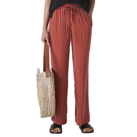 WHISTLES Rust Stripe Wide Leg Trousers