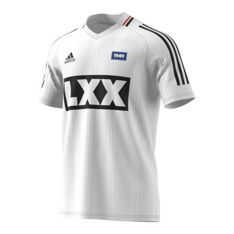 adidas Y-3 White Football 70A Jersey Tee