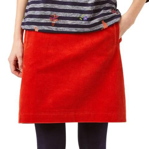 White Stuff Orange Iris Cord Skirt