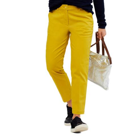 White Stuff Yellow Sussex Cotton 7/8 Trousers