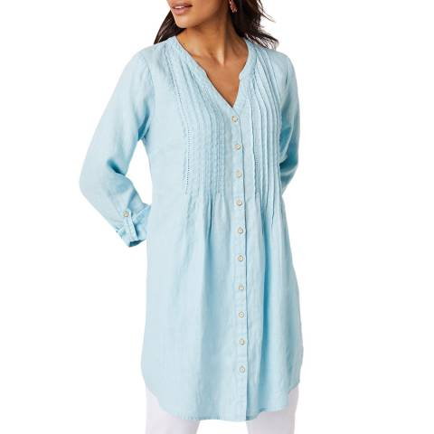 White Stuff Light Blue Mia Linen Tunic