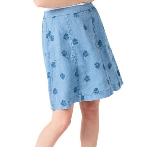 White Stuff Light Blue Mini Roller Skirt