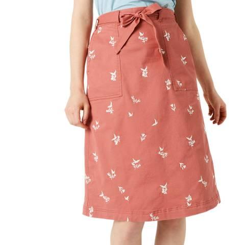 White Stuff Pink Scentful Emb Skirt