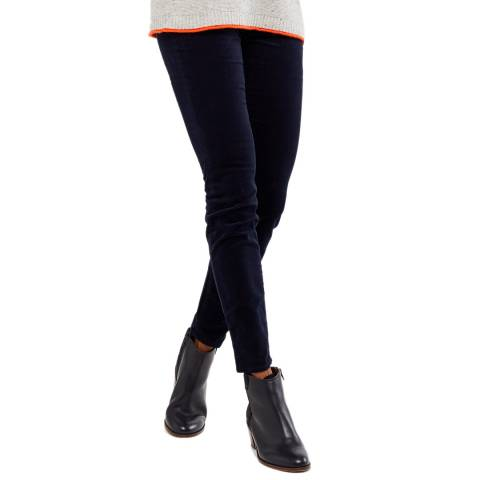 White Stuff Navy Hazel Velvet Jegging