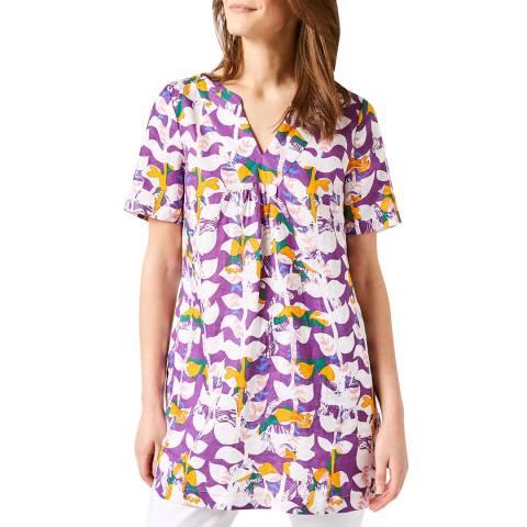 White Stuff Purple Harriet Linen Tunic