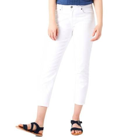 White Stuff White Straight Crop Trousers