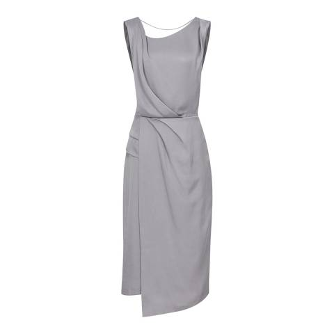 Reiss Steel Grey Karina Cocktail Dress