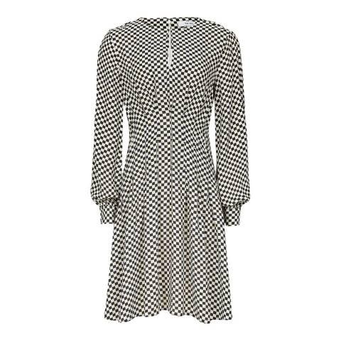 Reiss Multi Edna Check Print Dress