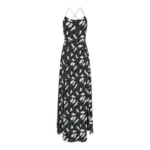 Reiss Multi Fenna Crossback Midi Dress