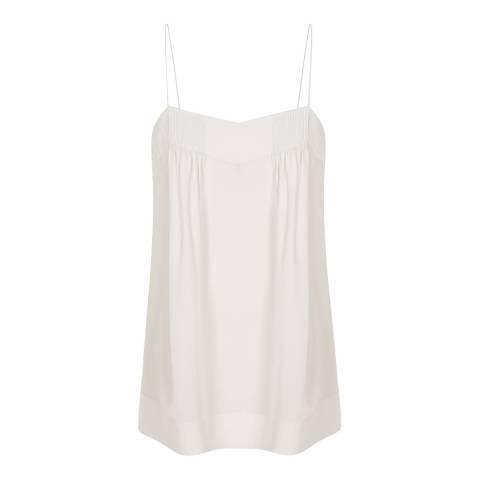 Reiss Off White Lois Silk Cami Top