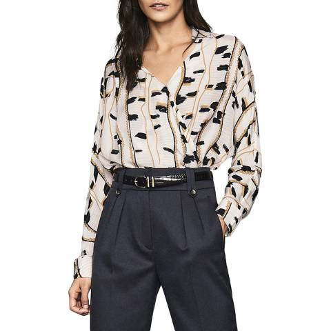 Reiss Neutral March Snake Shirt